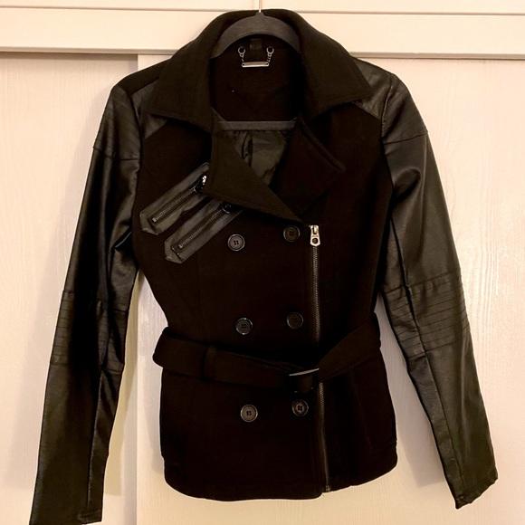 ♠️Faux leather moto jacket♠️